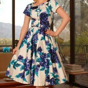 Pinup Couture Dee Dee Retro Floral Pinup Dress